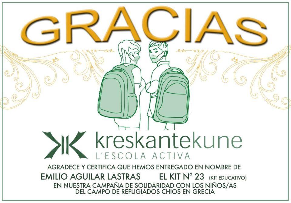 kreskante-kune diploma campo refugiados chios grecia
