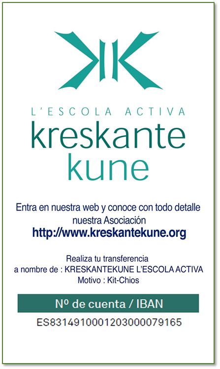 kreskante-kune-escola-activa cuenta iban kit-chios